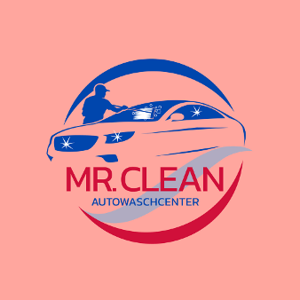 Auto Waschstraße Mr Clean Autowaschcenter Logo Design Extraklasse Express-Anlage Technik