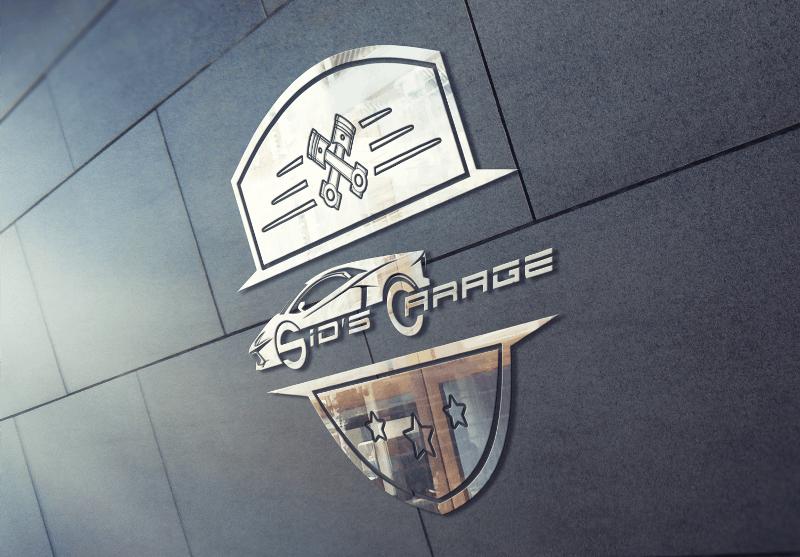 Auto Logo Design Unfallinstandsetzung KFZ-Reparatur Sids Garage