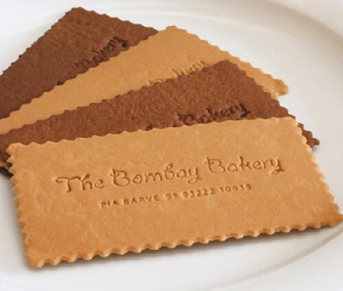 Essbare Visitenkarte Bombay Bakery