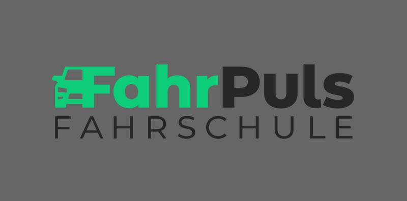 Auto Logo Design Fahrschule FahrPuls Fahrschüler Führerschein