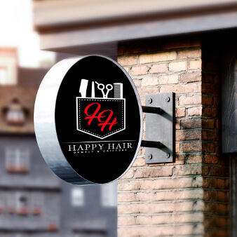 Friseur Logo Happy Hair 378246