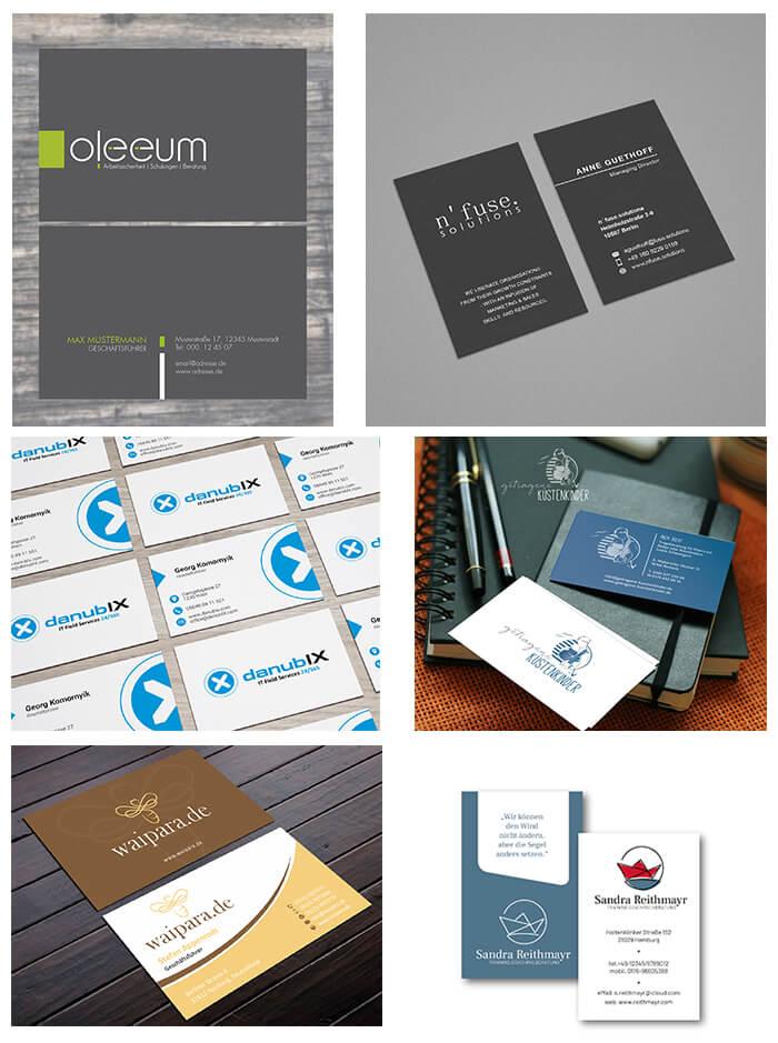 Visitenkarten Design Beispiele