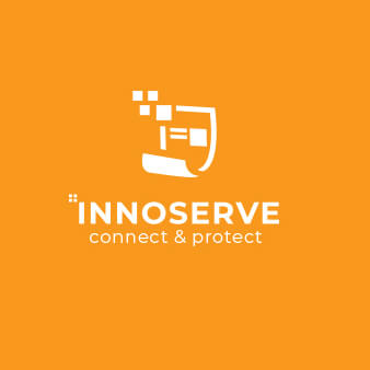 innoserve it logo design edv
