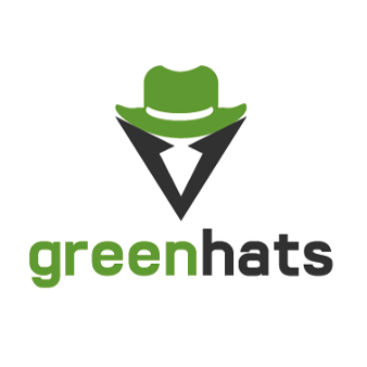 it logo design green hats