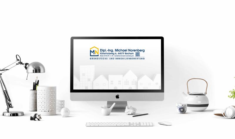 Einfache Initialen Logo Grundstücks und Immobilienbewertung 554671