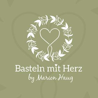 Bastel Logo Basteln mit Herz Marion Haug