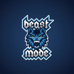 Beast Mode Logo Design Blau 554268