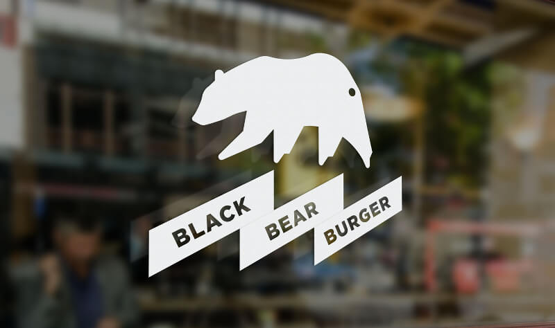 Black Bear Burger Fast Food Logo 138695