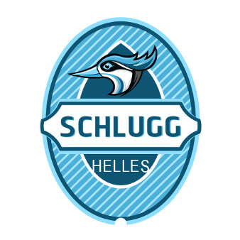 Blaues Logo Design Schlugg Helles 659848