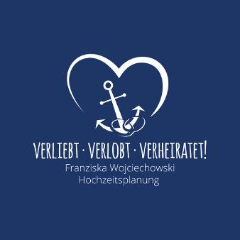 Blaues Logo Verliebt Verlobt Verheiratet 346382