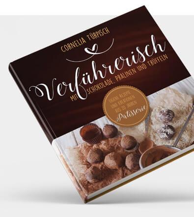 Buchcover-Design Kochbuch Schokolade