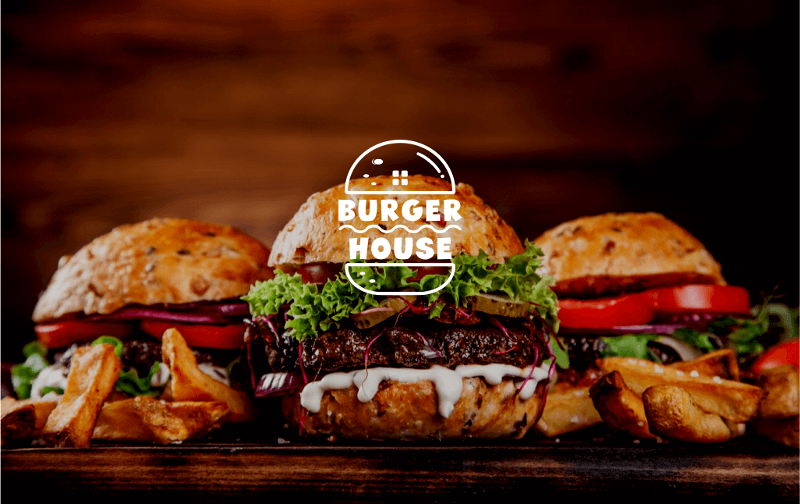 Fast Food Logo Design Burger House 852861