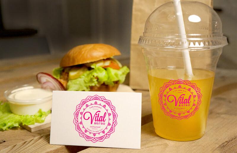 Fast Food Logo Vital Bistro 373912