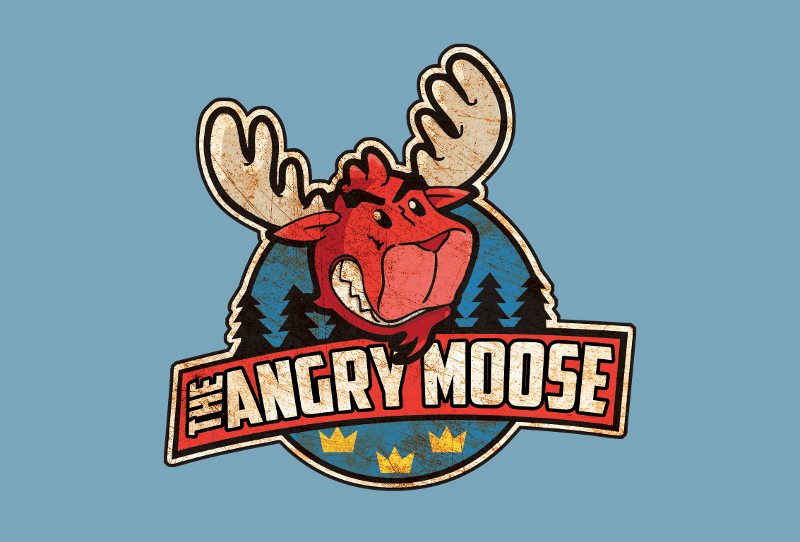 Fast Food Logos US Foodtruck Angry Moose 541673