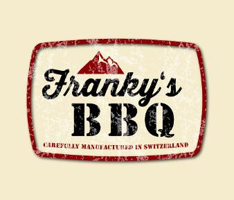 Franky's BBQ rotes Logo Design