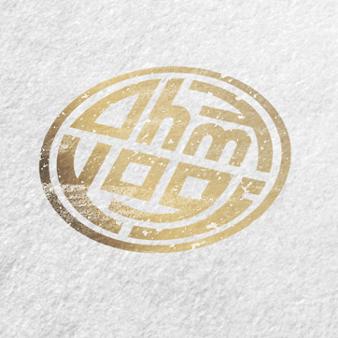 Gold Logo Wortmarke ohmy yogi