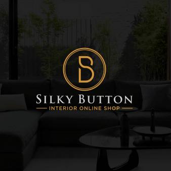 Gold Logo silky Button minimalistisch