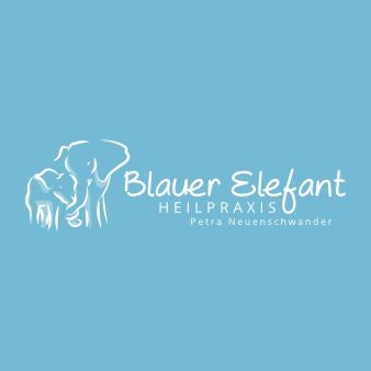 Heilpraktiker Logo Design Blauer Elefant