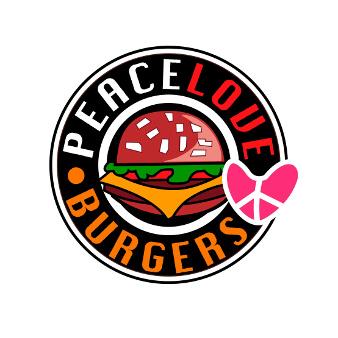 Love Peace Burger Logo Fast Food 882287
