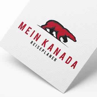 Mein Kanada rotes schlichtes Logo