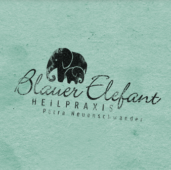 Naturheilpraxis Logo Blauer Elefant Petra Neuenschwander