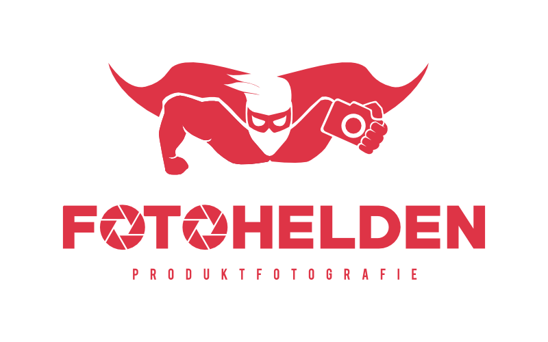 Rote Illustration Logo Fotohelden