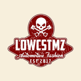 Rote Illustration Logo LOWCSTMZ