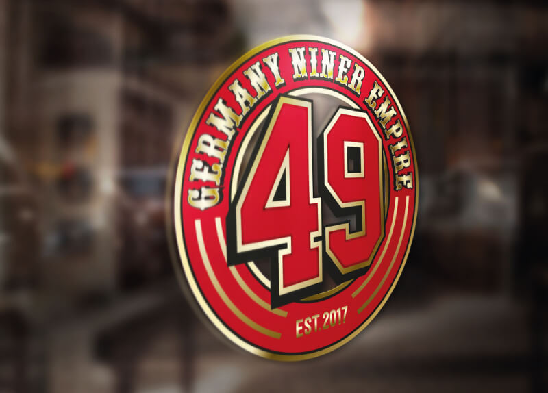 Rotes Logo Farbakzent 49 Germany Niner Empire