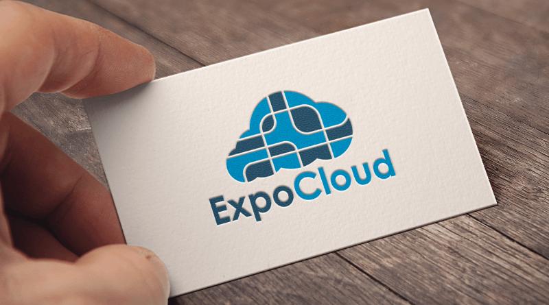 Schlichtes Blaues Logo ExpoCloud 552362