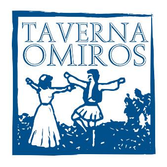 Taverna Omiros Blaues Logo Design 596197