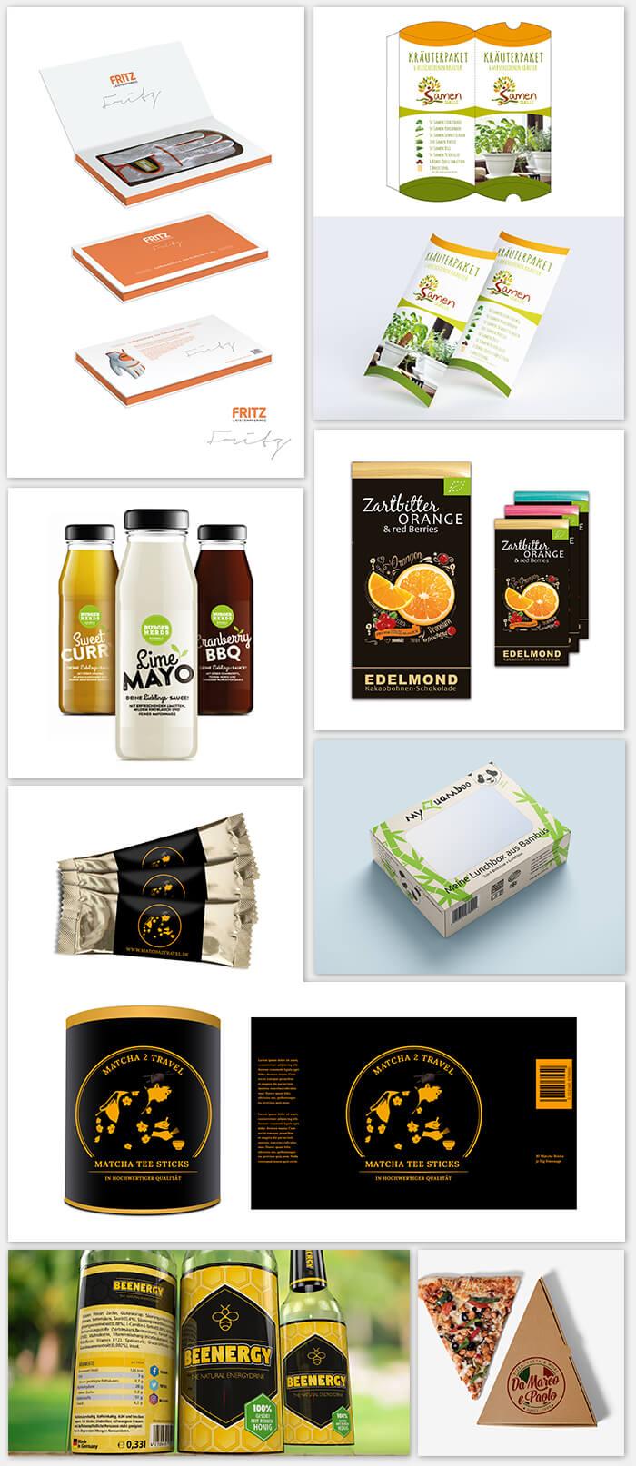Verpackungsdesign Beispiele