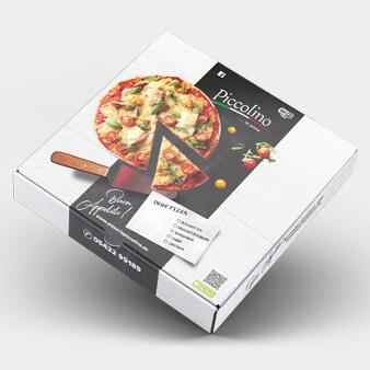 Verpackungsdesign Pizza Karton