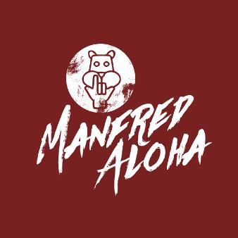 Weinrotes Logo Manfred Aloha