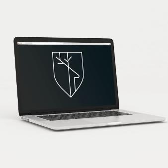atelier logo minimalistisch hirsch