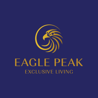 eagle peak golden logo elegant
