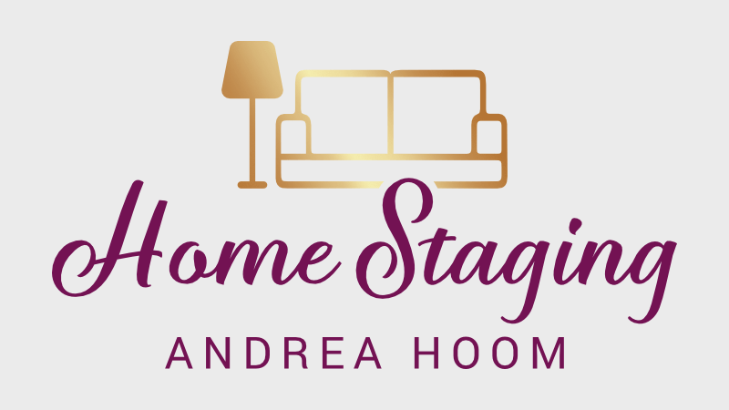 elegantes gold logo home staging andrea hoom