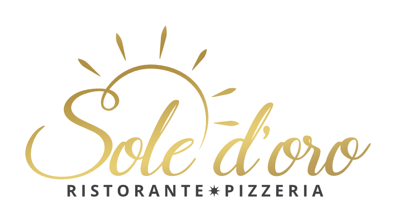 gold Logo Restaurant sole d'oro