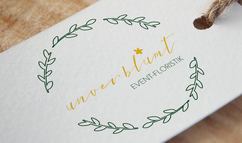 gold Logo zart unverblümt eventfloristik