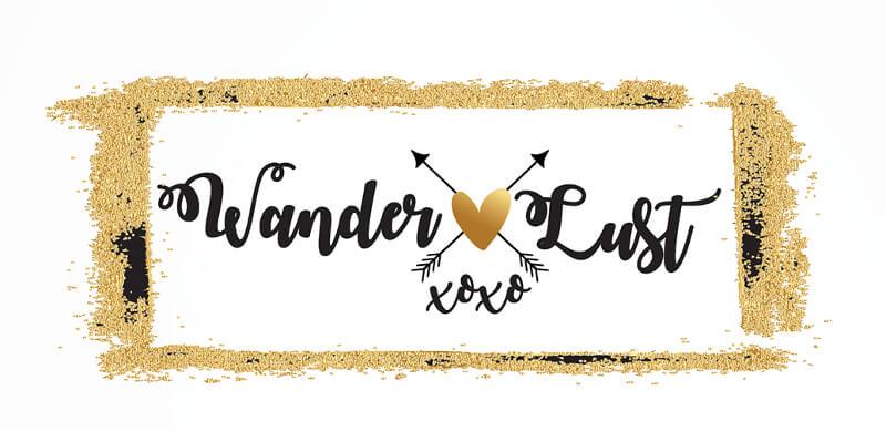gold logo wanderlust