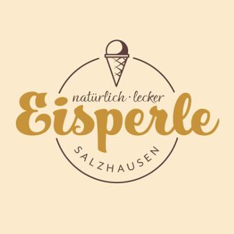 goldenes logo eisperle eisdiele