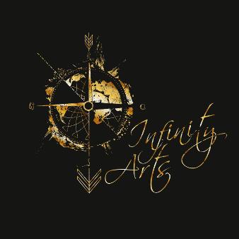 goldenes logo infinity arts elegant