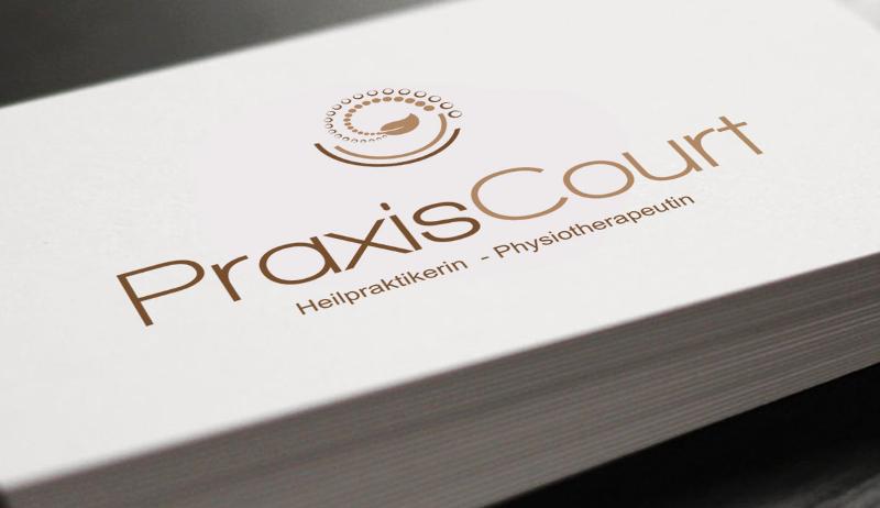 heilpraktiker logo design praxis court