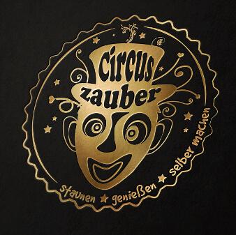 illustriertes Logo gold Circus Zauber