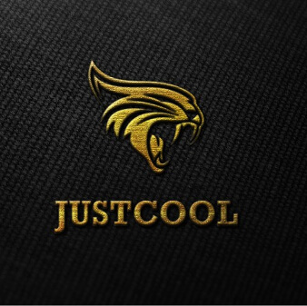 just cool gold logo