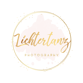 lichtertanz goldenes logo design zart