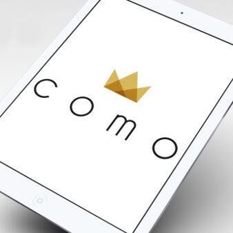 minimalistisches logo gold como
