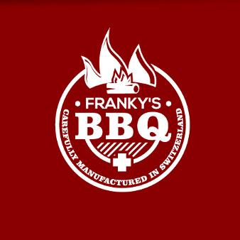 rote Logo Franky's BBQ verspielt