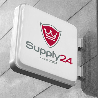 schlichtes rotes Logo Supply24 onlineshop