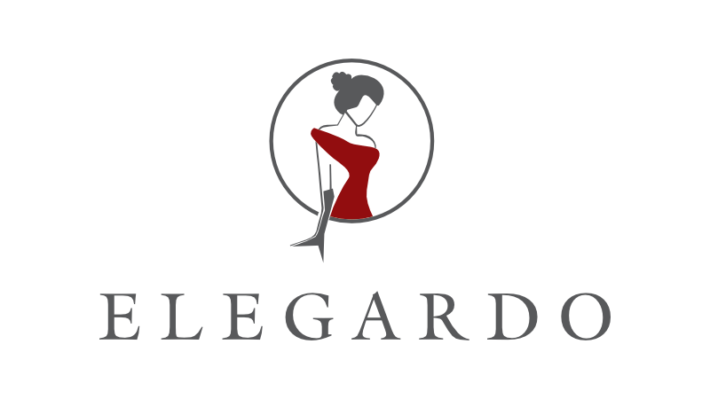 schlichtes rotes Logo elegardo Fashion