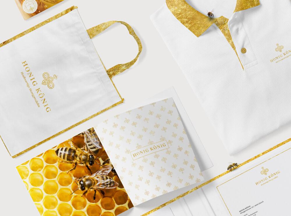 zartes logo gold honig könig